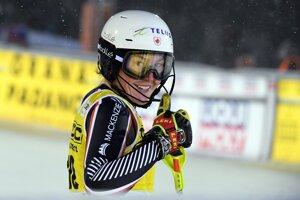 Rakúšanka Katharina Liensbergerová po jazde 2. kola prvého slalomu novej sezóny Svetového pohára v alpskom lyžovaní žien vo fínskom Levi, v ktorom obsadila 3. miesto.