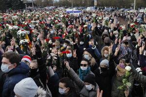 Bielorusi opäť vyšli do ulíc.