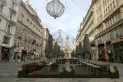 Centrum Viedne počas lovcdownu.