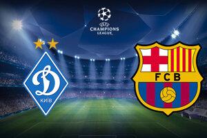 Futbal Dynamo Kyjev - FC Barcelona, Liga majstrov dnes LIVE stream.