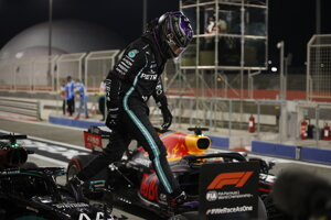 Lewis Hamilton na VC Bahrajnu F1.