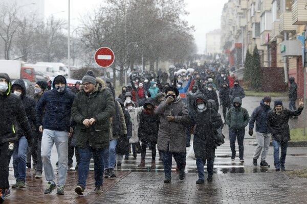 Protesty v Bielorusku pokračovali.