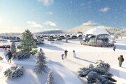 Vizualizácia projektu Šírava Park s nákladmi 6 miliónov eur.