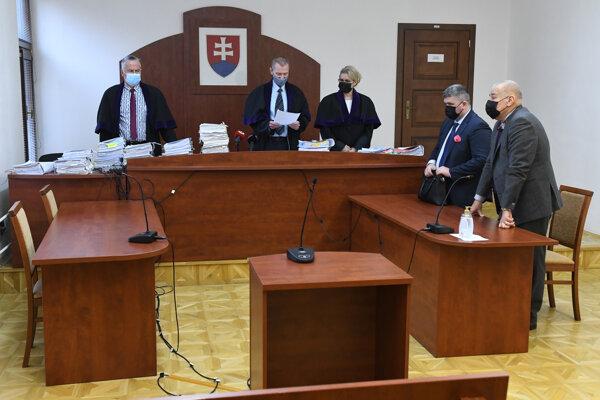 Vyhlásenie rozsudku v kauze Veľký Slavkov na Krajskom súde v Prešove.