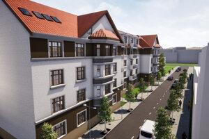 V rámci rekonštrukcie má investor opraviť aj chodník pred bytovkou.
