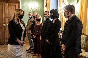 Prezidentka Zuzana Čaputová počas prijatia zástupcov iniciatívy Klíma ťa potrebuje.