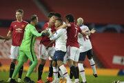 Momentka zo zápasu Manchester United - Paríž Saint Germain.