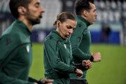 Francúzska rozhodkyňa Stephanie Frappartová pred zápasom Ligy majstrov.