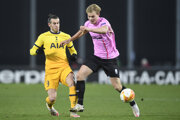 Momentka zo zápasu LASK Linz - Tottenham.