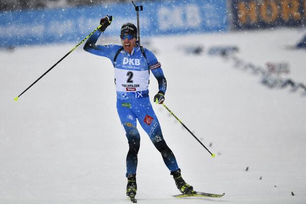 Quentin Fillon Maillet vyhral stíhacie preteky v Hochfilzene 2020.