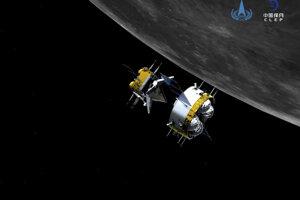Čínska kozmická loď Čchang-e 5.