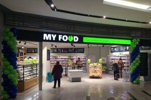 Predajňa My Food v bratislavskom centre Central.