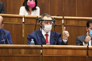 Boris Kollár v parlamente.
