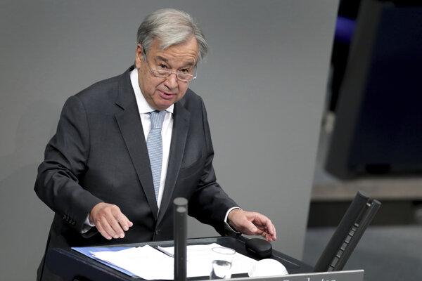 Generálny tajomník OSN Antonio Guterres.