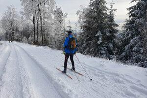 Na Kojšovskú hoľu vystúpili stovky turistov. Našli sa aj lyžiari.