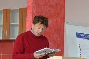 Prezentácia knihy Psie modré nebo na autorských čítaniach v Námestove.