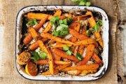 Pečená pikantná mrkva s rascou