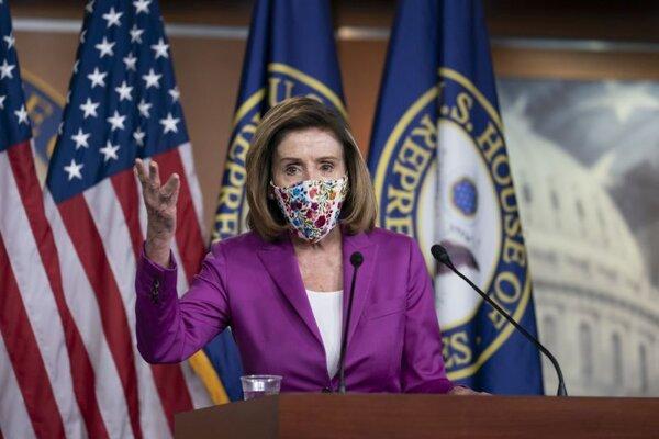 Predsedníčka americkej Snemovne reprezentantov Nancy Pelosiová.