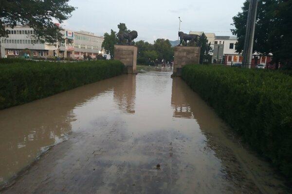 Humenné vlani 18. augusta zasiahli lokálne povodne.
