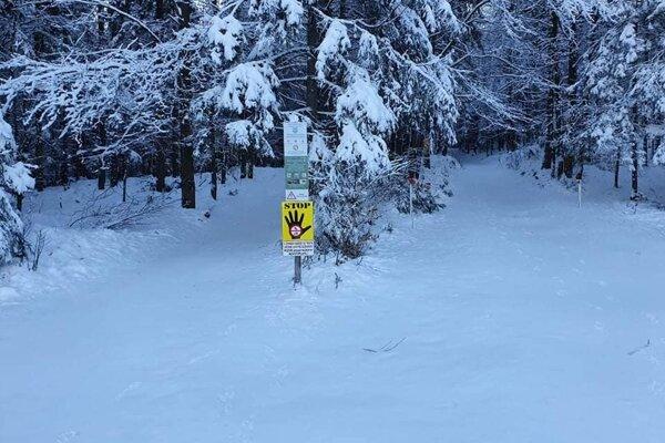 Autá budú musieť návštevníci lesa nechať pred závorou.