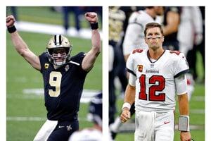 Drew Brees (vľavo) a Tom Brady.