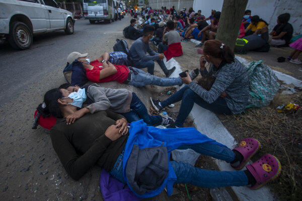 Migranti z Hondurasu.