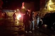 Zásah polície voči demonštrantom v Tunisku.