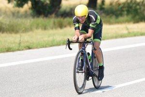 Martin Haring na cestnom bicykli