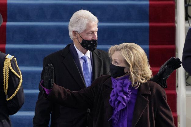 Bill Clinton s manželkou.
