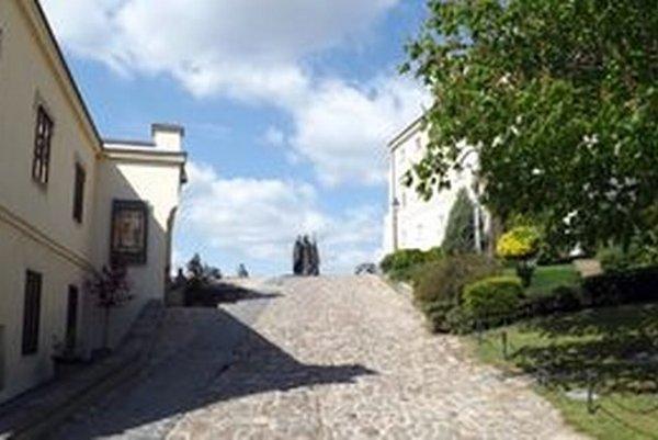 Za vstup do hradného areálu sa platí 30 centov. Ak chcete ísť do Diecézneho múzea (vľavo), musíte si priplatiť.