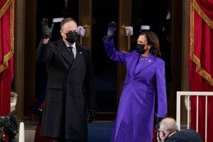 Kamala Harrisová s manželom Dougom Emhoffom.