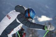 Petra Vlhová pred pretekmi super-G žien Svetového pohára vo švajčiarskej Crans Montane.