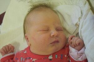 Elisa Gregorová (3620 g, 50 cm) sa narodila 4. januára Barbore a Róbertovi z Dubnice nad Váhom.