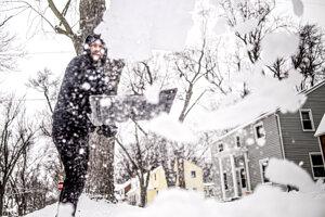 Snehová nádielka v štáte Michigan.
