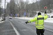 Policajná kontrola na hranici.