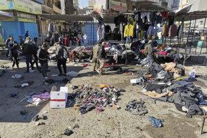 K samovražednému útoku na trh v Bagdade sa prihlásil Islamský štát.