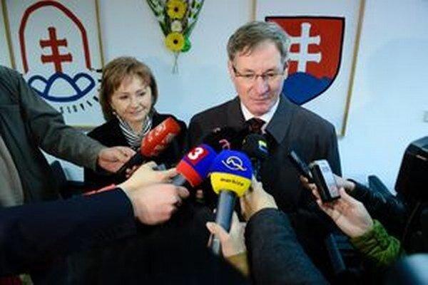 Pavol Hrušovský s manželkou.