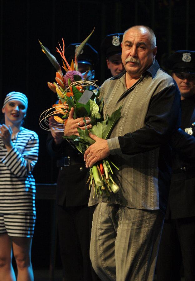 Ako režisér muzikálu Producenti Andrej Hryc na premiére v roku 2008.