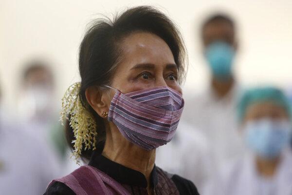 Mjanmarská premiérka Aun Schan Su Ťij.