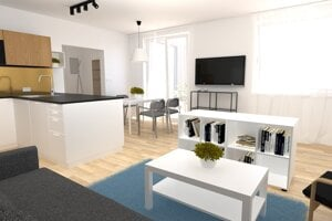 Vizualizáciu bytu, ktorý realizovala Kooperatíva v Košiciach.