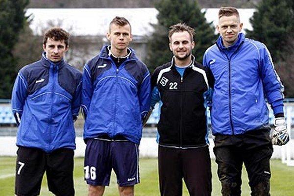 Zľava Jaroslav Kolbas, Róbert Pillár, Radoslav Augustín a Matúš Putnocký.