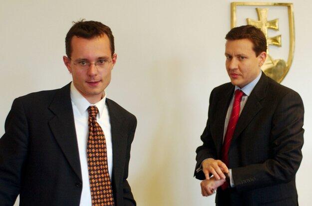 Radoslav Prochádzka a Daniel Lipšic v roku 2004.