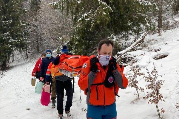 Horskí záchranári pomohli babičke