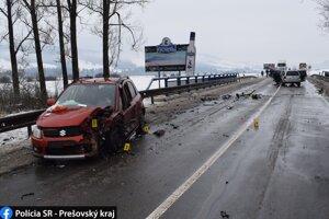 Nehoda sa stala na moste.