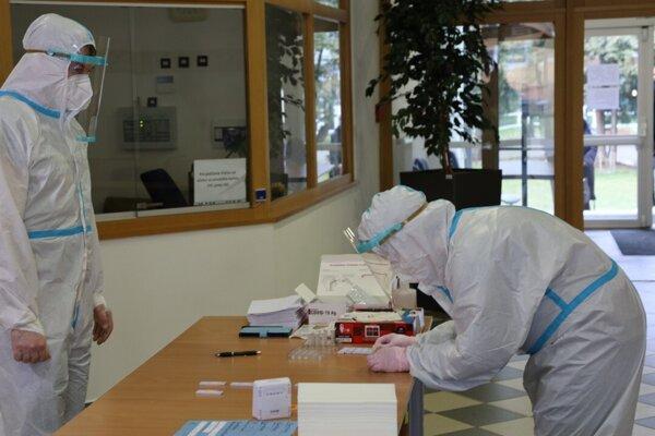 Testovanie na Prešovskej univerzite.