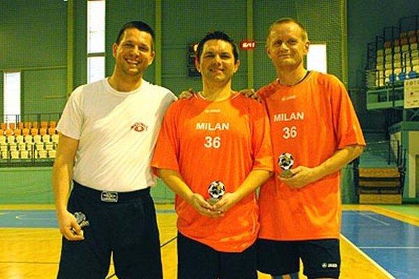 Ocenene individuality - zľava Marek Horský, Ondrej Ondrovič a Štefan Nagy.