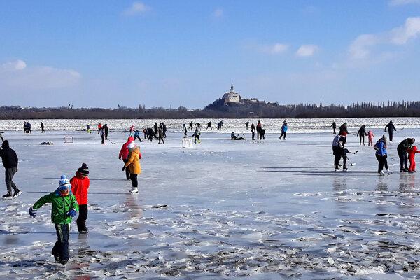 Malí aj veľkí si užili pohyb na ľade.