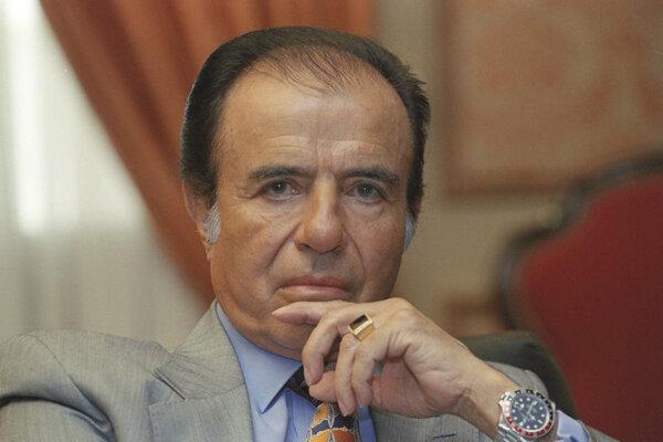 Bývalý argentínsky prezident Carlos Menem na fotke z roku 1997.