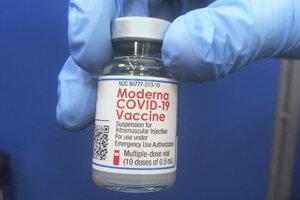 Vakcína proti covidu od spoločnosti Moderna.