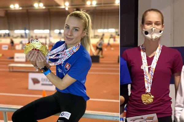Zľava Viktória Forster (ŠK ŠOG Nitra) a Diana Záborská (AC Stavbár Nitra).